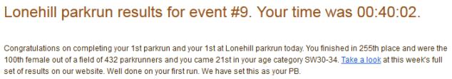 lonehill park run