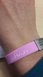 aero parkrun wristband