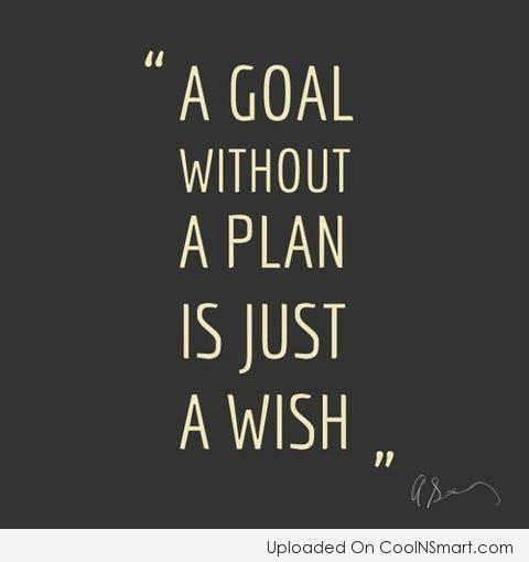 goal without a plan is a wish